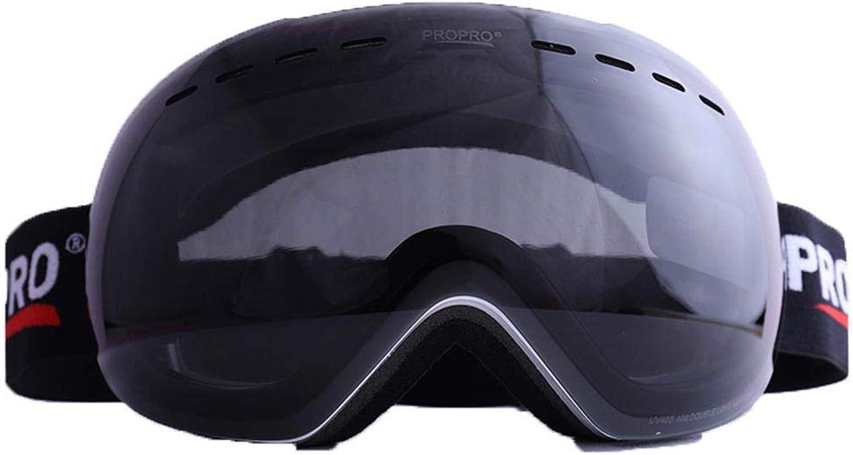 JKIALU Skiing goggles large spherical frameless skiing goggles coca myopia goggles