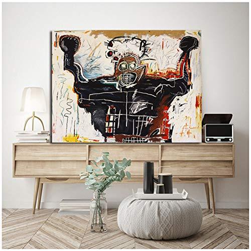 Boxer Jean Michel Kunstdruck auf Leinwand, 60 x 80 cm, ohne Rahmen