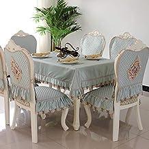 Royare Elegant Design Home Rectangular Coffee Table Tablecloth Fabric European Table Cloth Chair Cover Cushion Set Dining ...