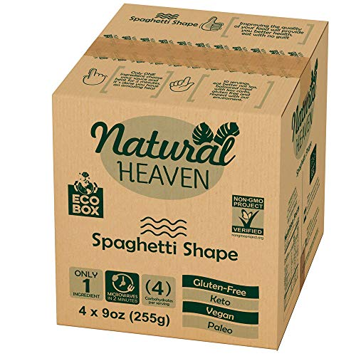 ECOBOX Natural Heaven Pasta Substitute | Spaghetti Hearts of Palm Noodle | 4 Count 9 oz | Environmental friendly…
