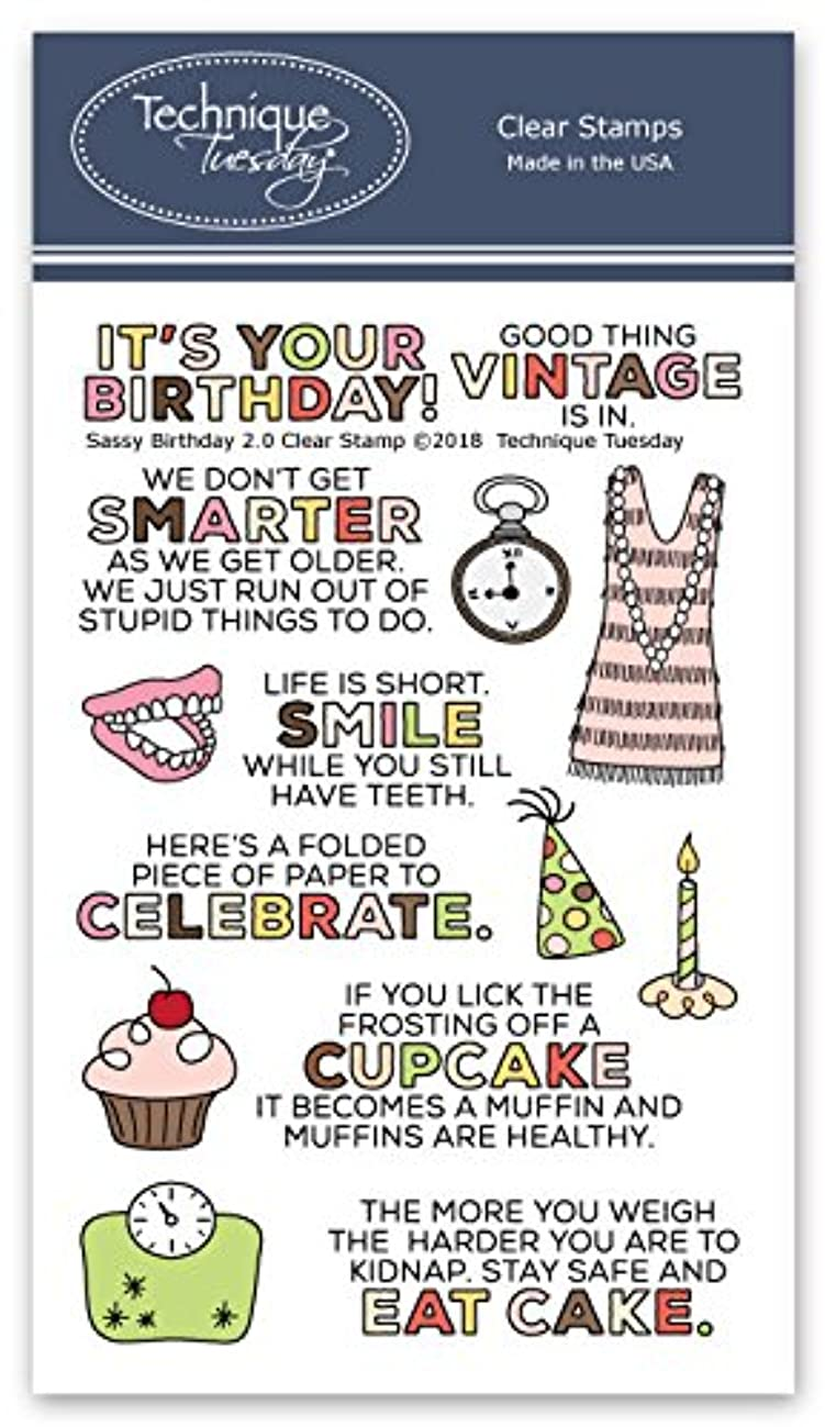 Sassy Birthday 2.0 Clear Stamps | Funny Birthday Saying Stamps | Card Sentiment Rubber Stamps | Photopolymer Stamps | Card Making Supplies
