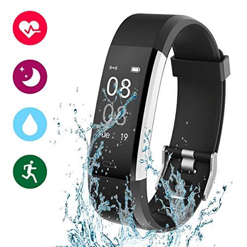 Glückluz Pulsera Actividad Smartband Fit Band Podometro Reloj Deportivo Pulsera Inteligente con Pulsómetro Pulsera Deportiva y Monitor de Ritmo Cardíaco...
