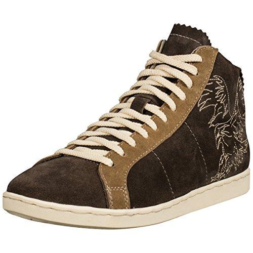 Almsach Herren Trachten-Schuhe Sneaker in Dunkelbraun, Schuhgröße:40 EU, Farbe:Dunkelbraun