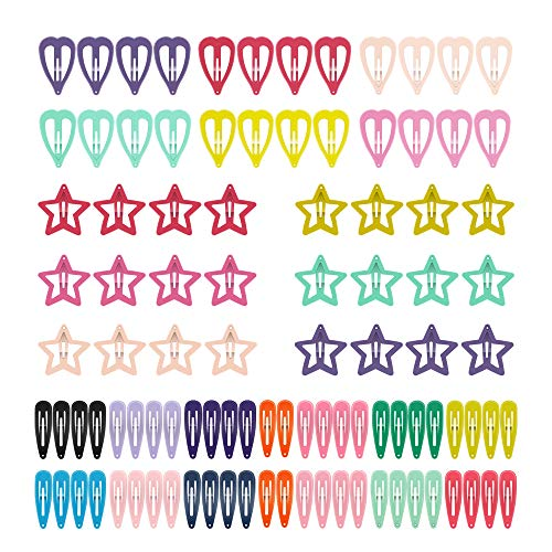 Snap Hair Clips, ECADY Non-slip Hair Barrettes for Girls, Women, Toddlers, Kids