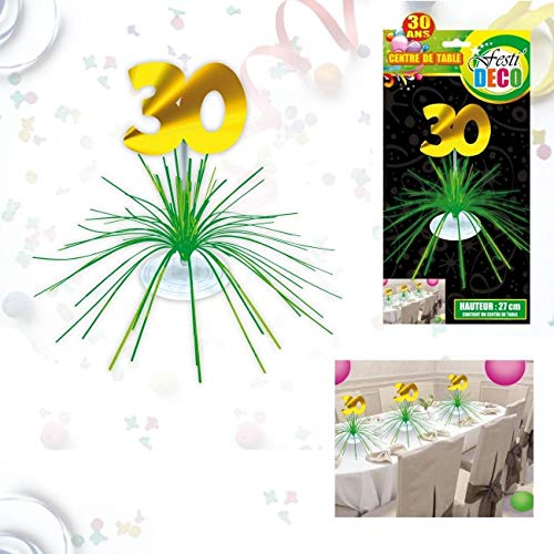 Centre de table d'anniversaire 30 ans