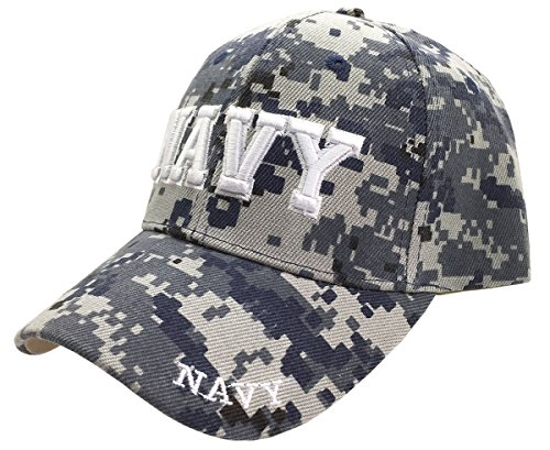 U.S. Navy Veteran 3D Letters Digital Camo ACU Embroidered Cap Hat (Licensed)
