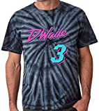 Shedd Shirts TIE-DYE Black Miami Wade Vice City T-Shirt Adult