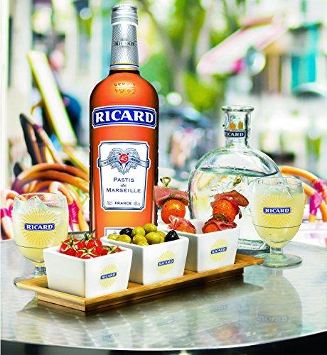 Ricard Pastis / Französischer Likör mit Sternanis, erfrischendem Kräuteraroma & Süßholzsaft / Spirituose mit universeller Mixbarkeit / 1 x 1 L - 6