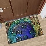 HLXX Alfombrillas 3D para decoración del hogar para Dormitorio, Sala de Estar, Pasillo cálido Suave, Felpudo de Bienvenida, Zapatos de Entrada, Alfombrilla Lavable A4 50x80cm