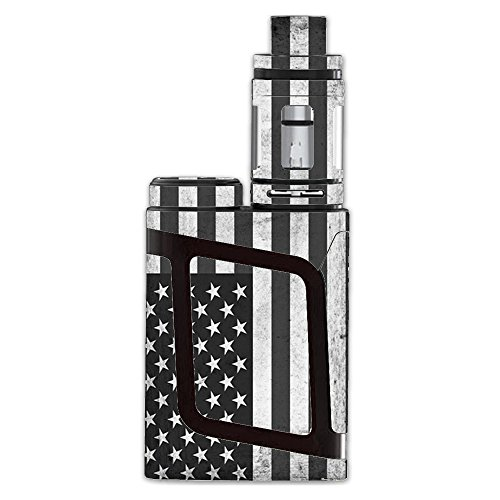 Skin Decal Vinyl Wrap for Smok AL85 Alien Baby Kit Vape stickers skins cover/Black White Grunge Flag USA America