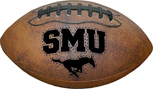 NCAA SMU Mustangs Vintage Throwback Football, 9-Inches