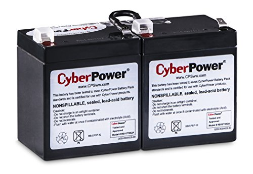 CyberPower RB1270X2A Replacement Battery Cartridge, Maintenance-Free, User Installable,Black