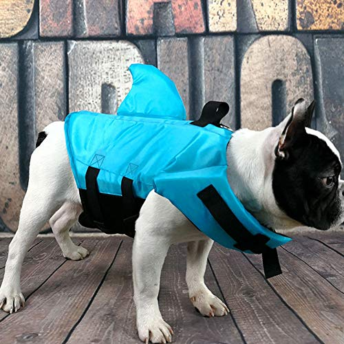 Newfly Shark Dog Life Jacket Safety Clothing Pet Life Vest Summer Dog Swimming Clothes French Bulldog Fin Jacket Playing in The Sea Dog Life Vests for Swimming