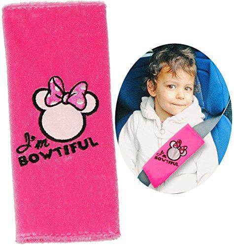 alles-meine.de GmbH Gurtschoner / Gurtpolster -  Disney Minnie Mouse  - Gurtschutz - für Sicherheitsgurt als Gurt Polster - für Auto / Kindersitz - Schoner Autositz - Kinder Mä..