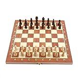 Yosoo Juego de ajedrez de Juguetes de Madera de 14 Pulgadas Plegable y...