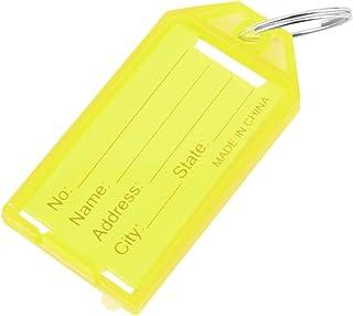 mymerlove 1 x Plastic Key Tags Key Rings ID Identity Tags Rack Name Card Label New