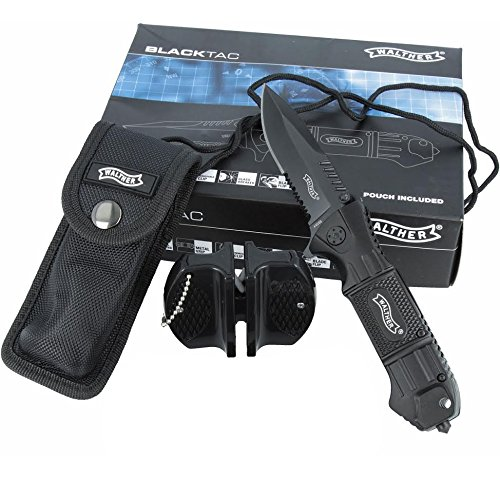 Walther Tactical SET Einhand-Messer 50715 + Tasche und Duo Messerschärfer
