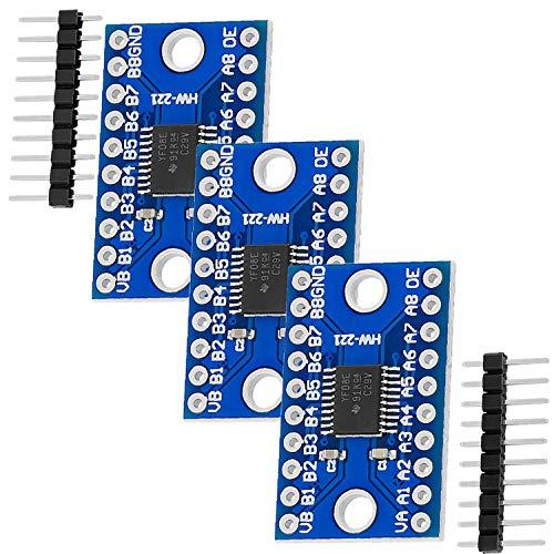 AZDelivery 3 x TXS0108E Logic Level Converter 8 Kanal kompatibel mit Arduino und Raspberry Pi