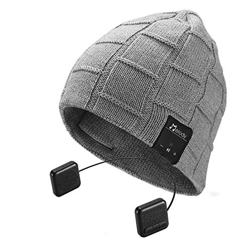 Bluetooth Beanie Hat, Topple Wireless 4.1 Superior Headphone Beanie Hat with HD Stereo Earphone Speaker Mic,Unisex Washable for Men Women Winter Outdoor Fitness Grey