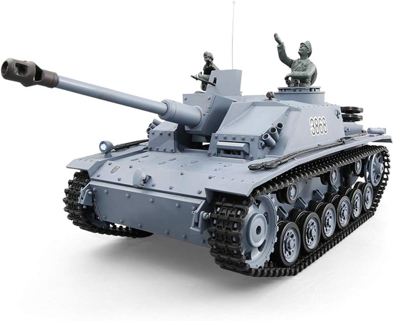 Pinjeer 1 16 Grau Fernbedienung Tank Metall Track übergroen Erwachsene Drahtlose Schlacht Spielzeugauto 42  18,5  19 cm Nizza Verpackung Geburtstagsgeschenke für Kinder 12 + (Farbe   Metal)