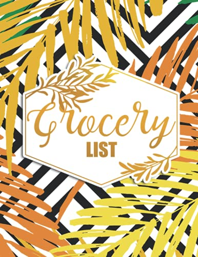 Grocery List: Large Notepad for Meal Planning and Creating a Shopping List