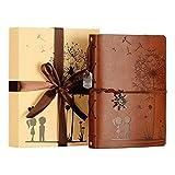 ZEEYUAN Album Fotografico,Memory Scrapbook Album Pelle Vintage Album Foto Famiglia Album Scrapbook Speciale di Natale di Regali di Compleanno Unico Regalo per Le Donne(Marrone)