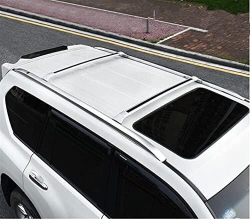 Zhbqcmou Instalación de Tornillos de Coche Top Techo Rack Rack Equipaje y ampcross Bar para Toyota Land Cruiser Prado FJ150 LC150 150-2010-2021 hnzhb (Color : Roof Rack Bar)