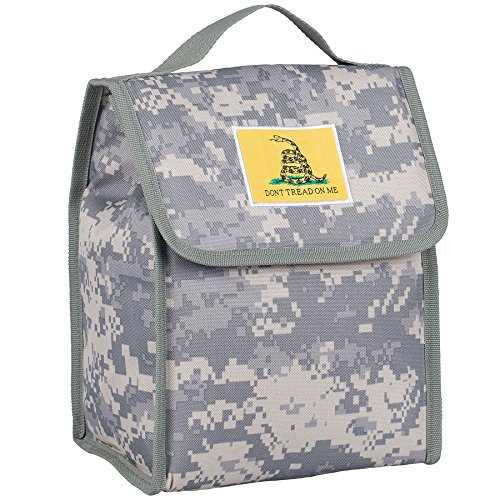 Wildkin Kids Insulated Lunch Bag For Boys & Girls, Perfect Size for Packing Hot or Cold Snacks for School & Travel, Lunch Bags Measures 10 x 8.5 x 5 Inches, BPA-free (Don't Tread On Me Digital Camo)