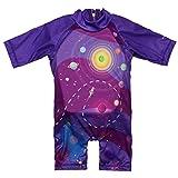 Megartico Kid Swim Vest Swim Trainer Unisex-Child Floating Swimsuit Purple Space Galaxy Roaming Kids Swimwear Child Swim Jacket