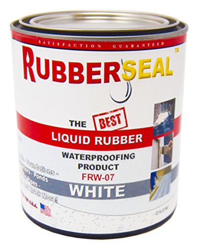 Rubberseal Liquid Rubber Waterproofing and Protective Coating - Roll On WHITE (32 ounces)