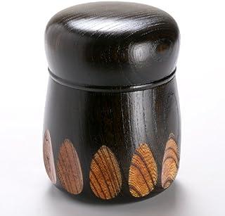漆器 茶筒欅漆切子黒 (NC-539)