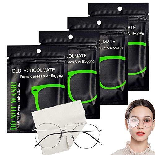 4 Stück Anti-Fog-Tuch Brille Antibeschlag,Antibeschlagtuch,Brillenreinigungstücher,Microfasertuch für Brille,Antibeschlag-Tuch für Brillen,Nano Antibeschlag Tücher