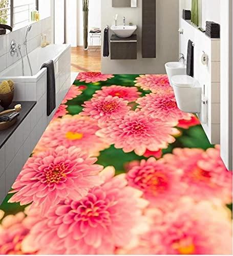 Foto Papel Pintado 3D Para Baños Flores Para Plantar Baldosas PVC Autoadhesivo