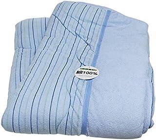 cotton やわらか パイル タオル布団 (P3-041) (ブルー, シングルサイズ 約135×185cm) 肌掛け布団 肌布団 肌ふとん 掛布団
