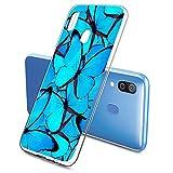 Oihxse Funda Conpatible con Samsung Galaxy J2 Prime 2017/G530 Silicona Transparente Dibujos Mariposa Cover Suave TPU Gel Cristal Clear Delgada Anti- Arañazos Protección Carcasa Case,Azul 2