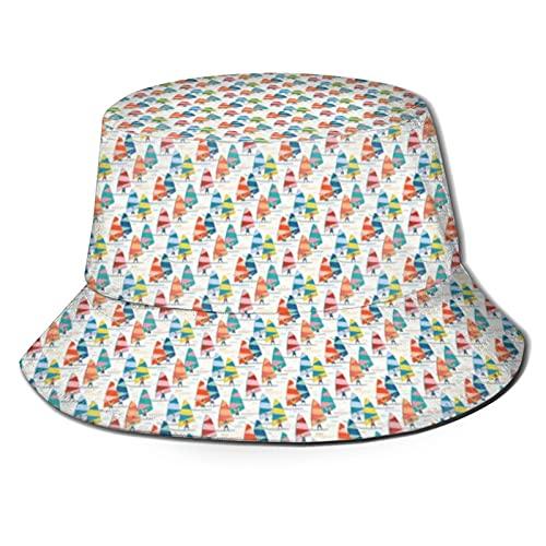 Yearinspace The Hat Unisex Packable Summer Travel Bucket Beach Sun Hat Sombrero de pescador Windsurf Xs Scale Blanco