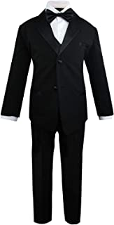 Luca Gabriel Toddler Boys' 5 Piece Classic Fit Formal Suit Bowtie Set