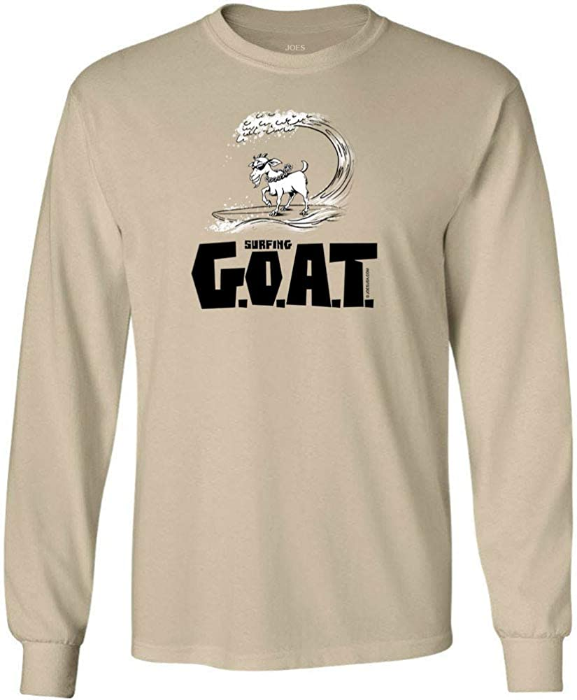Joe's Surf Shop Mens G.O.A.T. Logo Heavyweight Long Sleeve Shirt Reg, Big & Tall