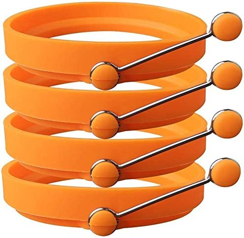 Newthinking Silicone Egg price Ring 4 Non-Stick Under blast sales Cooking Pack