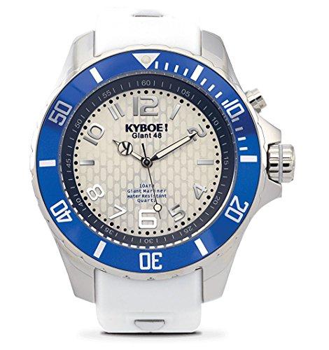 KYBOE! Reloj de cuarzo de acero inoxidable y silicona (modelo: Marine Surf)