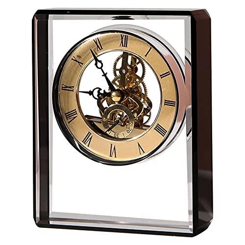 hkwshop Reloj de Escritorio Table Reloj Ligero Lujo Adornos de Reloj de Lujo Nórdico Estilo Personalidad Escritorio Mecánico Reloj Sala de Estar Dormitorio Reloj de Mesa