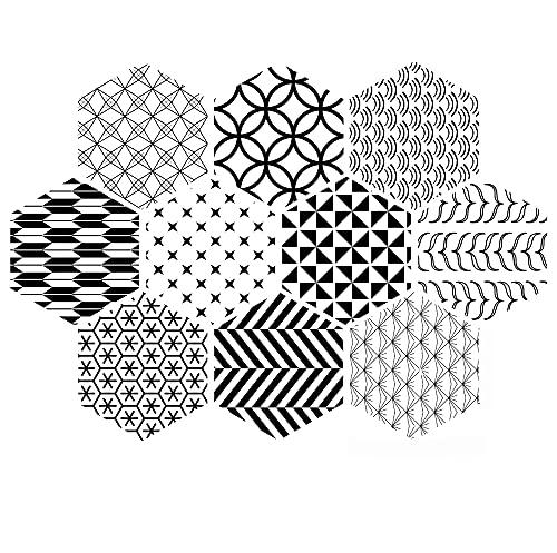 azulejos adhesivos cocina,10 piezas de pegatinas de pared de baño y cocina, pegatinas de piso de seis caras antideslizantes pegatinas de azulejos decorativos -015