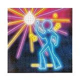 NET TOYS 12 Servietten 80er Jahre 33 x 33 cm - Außergewöhnliche Party-Dekoration Disco Fever Papierservietten - Bestens geeignet für Mottoparty & Geburtstagsfeier - 2