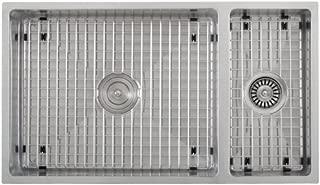 Phoenix 78.74-0.64 厘米底架双碗 16 号不锈钢方形厨房水槽带紧半径