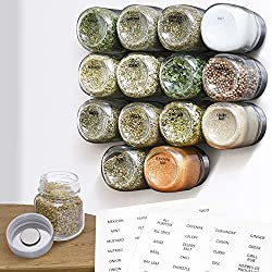 Spice jars with magnetic lids