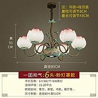 2020 Latest Design ヴィラ四半期の鉄のシャンデリアの階に中国の花のランプ近代的な新しいリビングルームにはロータスを率い,F