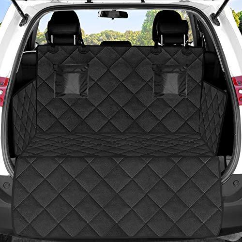 MODSIM Kofferraumschutz Hund mit Seitenschutz Kofferraumdecke für Hunde Kofferraummatte mit Ladekantenschutz Auto Schutzdecke Wasserabweisend & Pflegeleicht, schwarz