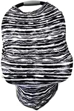 Baltic Essentials 5-in-1 Multi Use Cover -Infant Car Seat and Shopping cart Cover Nursing Cover Up in Zebra Black White