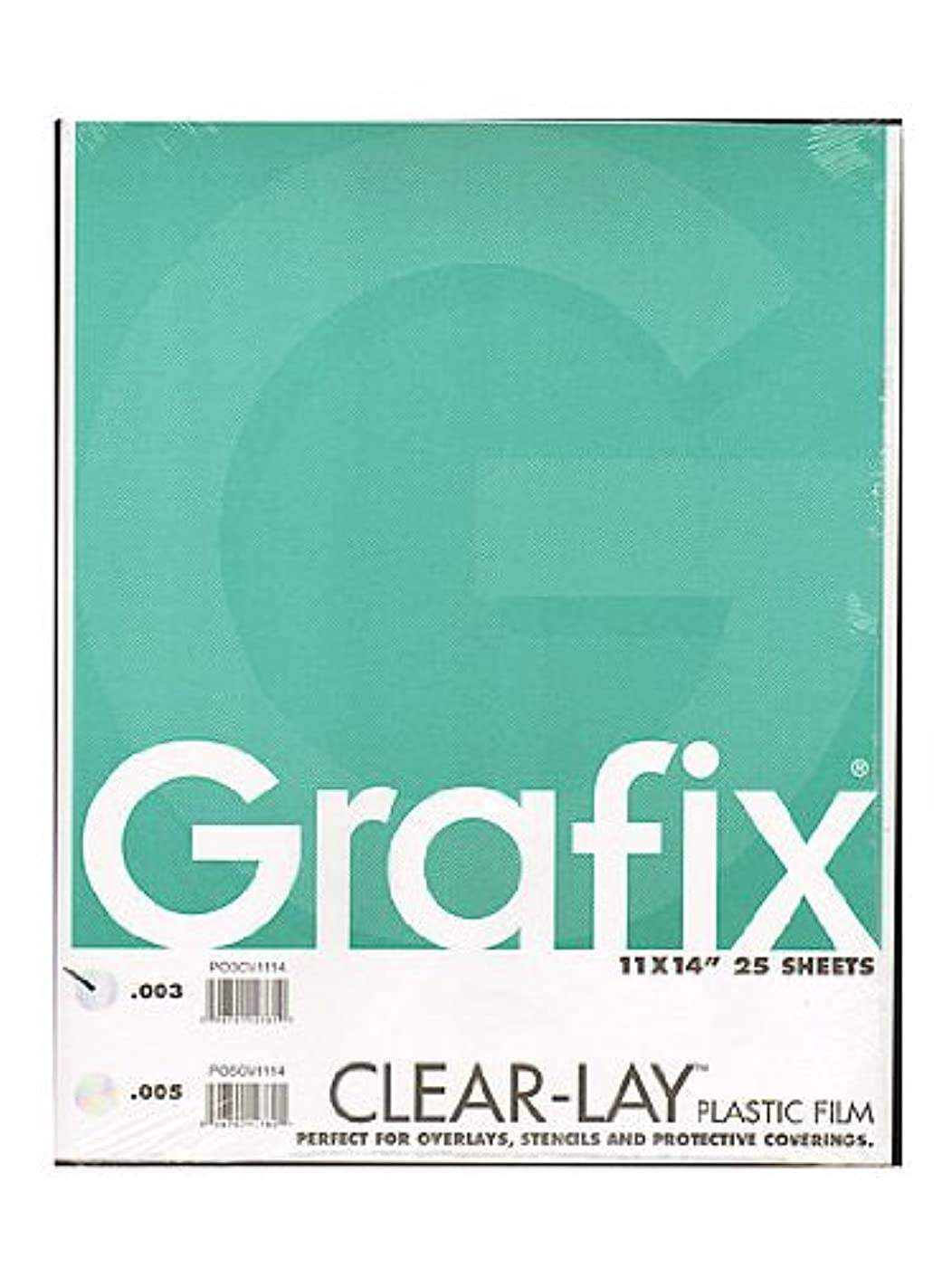 Grafix Clear-Lay Acetate Alternative 0.003 in. 11 in. x 14 in. pad of 25