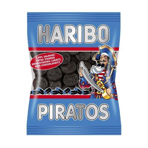 Haribo Piratos, Salmiak, 200 g (Pack of 3)